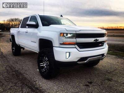 "2017 Chevrolet Silverado 1500 - 20x9 18mm - Helo He835 - Suspension Lift 6.5"" - 35"" x 12.5"""