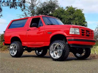 """1996 Ford Bronco - 22x14 -73mm - American Force Rebel Ss - Suspension Lift 6"""" - 33"""" x 12.5"""""""