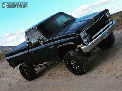 "1984 Chevrolet K10 - 18x9 -1mm - Fuel Throttle - Suspension Lift 4"" - 35"" x 12.5"""