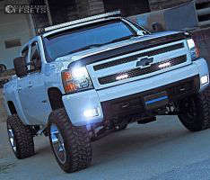 "2008 Chevrolet Silverado 1500 - 20x12 -44mm - Fuel Maverick - Suspension Lift 7.5"" - 35"" x 12.5"""
