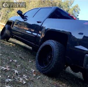 2016 Chevrolet Silverado 1500 - 20x12 -51mm - Vision Rocker - Leveling Kit - 275/55R20