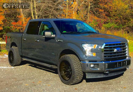 2017 Ford F-150 - 20x12 -51mm - Toxic Punisher - Stock Suspension - 285/55R20