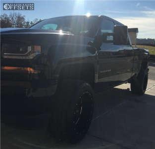 "2016 Chevrolet Silverado 1500 - 20x12 -44mm - Moto Metal Mo962 - Leveling Kit - 33"" x 10.5"""