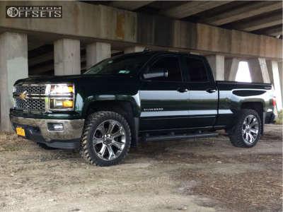 "2015 Chevrolet Silverado 1500 - 22x9 24mm - OE Performance 166 - Leveling Kit - 33"" x 12.5"""