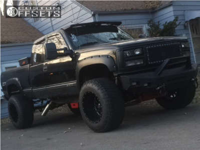 "1994 Chevrolet K1500 - 20x14 -76mm - Off Road Monster M12 - Suspension Lift 6"" & Body 3"" - 37"" x 13.5"""
