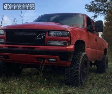 """2002 Chevrolet Silverado 1500 - 20x12 -44mm - RBP Assassin - Suspension Lift 6.5"""" - 33"""" x 12.5"""""""