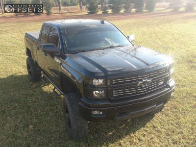 "2015 Chevrolet Silverado 1500 - 18x10 -24mm - Moto Metal Mo962 - Suspension Lift 7.5"" - 35"" x 12.5"""