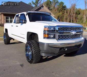 "2014 Chevrolet Silverado 1500 - 22x12 -44mm - Gear Off-Road Big Block - Suspension Lift 6"" - 33"" x 12.5"""