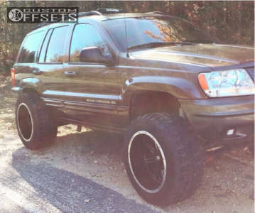 """1999 Jeep Grand Cherokee - 20x12 -51mm - Vision Cannibal - Suspension Lift 4.5"""" - 33"""" x 12.5"""""""