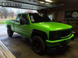 1997 Chevrolet K2500 - 16x8 -6mm - US Wheel 97 Series - Stock Suspension - 265/75R16