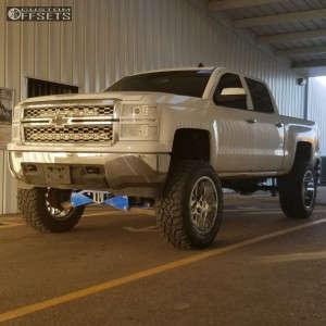 "2014 Chevrolet Silverado 1500 - 22x12 -44mm - Xd Xd820 - Suspension Lift 10"" - 37"" x 13.5"""