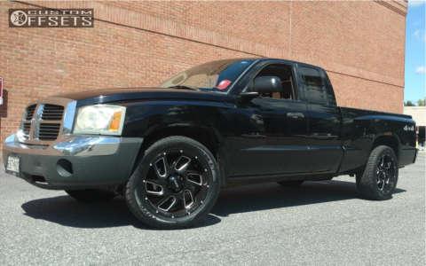 2005 Dodge Dakota - 20x9 18mm - Ultra Carnage - Stock Suspension - 275/55R20