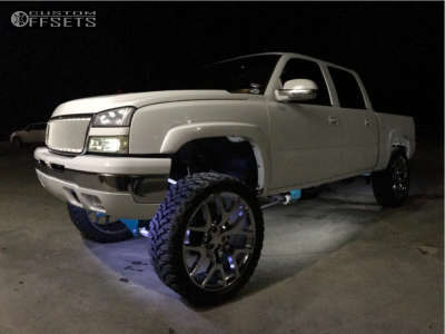 "2006 Chevrolet Silverado 1500 - 26x10 27mm - Replica Wheels A04 - Suspension Lift 10"" - 37"" x 13.5"""