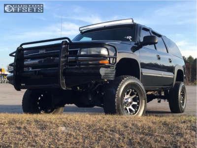 "2003 Chevrolet K2500 Suburban - 17x9 18mm - Xd Addict - Suspension Lift 7"" - 35"" x 12.5"""