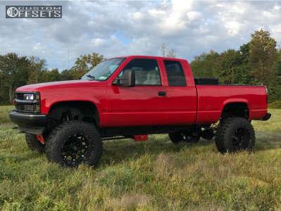 "1997 Chevrolet K1500 - 20x14 -76mm - Fuel Hostage - Suspension Lift 6"" & Body 3"" - 37"" x 13.5"""
