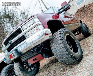 "1997 Chevrolet K1500 - 20x12 -51mm - Vision Cannibal - Suspension Lift 6"" & Body 3"" - 38"" x 15.5"""
