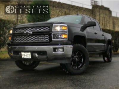 "2014 Chevrolet Silverado 1500 - 20x10 -12mm - Steel Off-Road SD110 - Suspension Lift 3.5"" - 33"" x 12.5"""