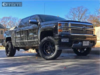 "2015 Chevrolet Silverado 1500 - 20x10 -12mm - Steel Off-Road SD610 - Suspension Lift 3.5"" - 33"" x 12.5"""