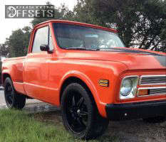 1967 Chevrolet C10 Pickup - 22x10.5 5mm - Starr N/A - Stock Suspension - 305/40R22
