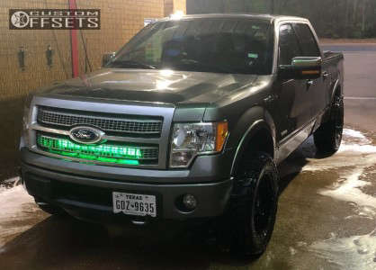 """2012 Ford F-150 - 20x10 -12mm - Fuel Hostage - Leveling Kit - 33"""" x 12.5"""""""