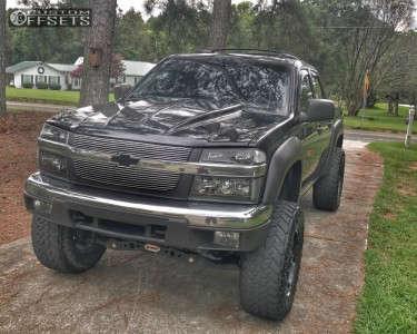 """2006 Chevrolet Colorado - 17x9 1mm - Fuel Krank - Suspension Lift 4"""" - 285/70R17"""