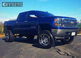 "2014 Chevrolet Silverado 1500 - 20x12 -44mm - Moto Metal Mo969 - Suspension Lift 8"" - 35"" x 12.5"""