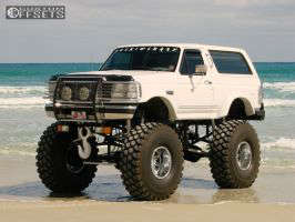 """1996 Ford Bronco - 20x14 -76mm - Fuel Hostage - Lifted >9"""" - 54"""" x 18.5"""""""