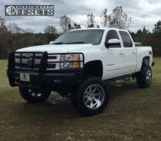 "2010 Chevrolet Silverado 1500 - 20x12 -44mm - Moto Metal Mo962 - Suspension Lift 8"" - 35"" x 12.5"""