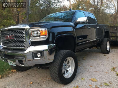 """2015 GMC Sierra 2500 HD - 20x12 -40mm - American Force Independence Ss - Suspension Lift 7.5"""" - 35"""" x 12.5"""""""
