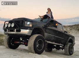 """2005 Ford F-250 Super Duty - 20x14 -76mm - Fuel Hostage - Lifted >9"""" - 40"""" x 15.5"""""""