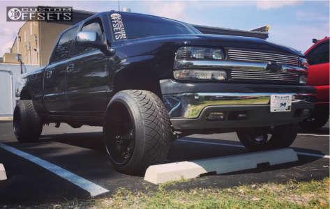 2001 Chevrolet Silverado 1500 HD - 22x14 -76mm - Fuel Octane - Stock Suspension - 305/45R22