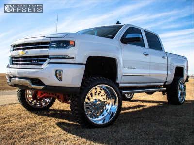 "2017 Chevrolet Silverado 1500 - 24x12 -40mm - American Force Zero Ss - Suspension Lift 9"" - 35"" x 12.5"""
