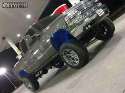 "2001 Chevrolet C1500 - 20x12 -44mm - Moto Metal Mo962 - Suspension Lift 6"" & Body 3"" - 35"" x 12.5"""
