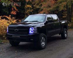 2011 Chevrolet Silverado 1500 - 17x7.5 31mm - Spaced Out Stockers Spaced Out Stockers - Leveling Kit - 285/70R17