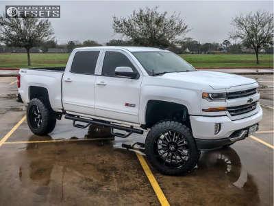 "2017 Chevrolet Silverado 1500 - 22x12 -44mm - Hostile Predator - Suspension Lift 6.5"" - 35"" x 12.5"""