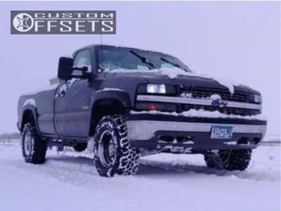 "1999 Chevrolet Silverado 1500 - 16x8 -12mm - Vision D Window - Suspension Lift 3"" - 265/75R16"