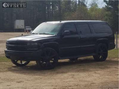 2003 Chevrolet Suburban - 26x10 28mm - Kmc Slide - Stock Suspension - 305/30R26