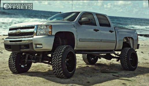 "2011 Chevrolet Silverado 1500 - 22x14 -76mm - Fuel Octane - Suspension Lift 10"" - 35"" x 12.5"""
