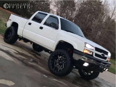 """2005 Chevrolet Silverado 1500 - 22x14 -70mm - Fuel Renegade - Suspension Lift 6"""" - 325/50R22"""