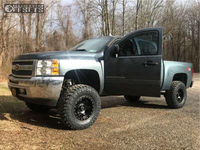 "2013 Chevrolet Silverado 1500 - 17x9 -12mm - Xd Xd131 - Suspension Lift 6"" - 315/70R17"