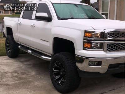 "2014 Chevrolet Silverado 1500 - 20x10 -18mm - Fuel Assault - Suspension Lift 7.5"" - 35"" x 12.5"""