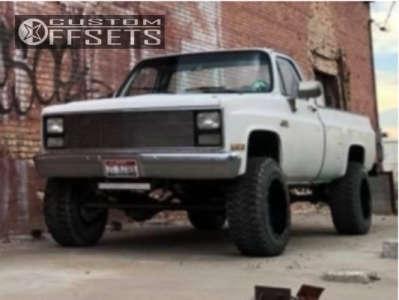 """1986 Chevrolet K20 - 20x12 -44mm - Gear Off-Road Big Block - Suspension Lift 4"""" - 35"""" x 12.5"""""""