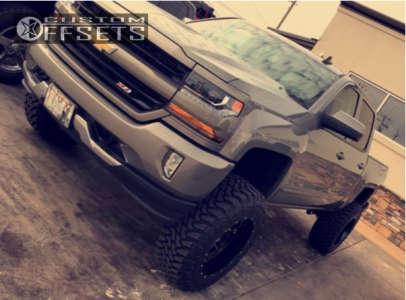 "2017 Chevrolet Silverado 1500 - 20x12 -44mm - Hostile Alpha - Suspension Lift 6.5"" - 35"" x 12.5"""