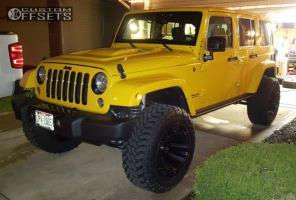 "2015 Jeep Wrangler - 20x12 -43mm - Fuel Assault - Suspension Lift 4"" - 35"" x 12.5"""