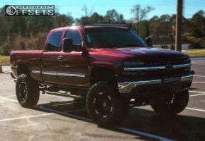 "1999 Chevrolet Silverado 1500 - 18x9 -12mm - Moto Metal Mo951 - Suspension Lift 6"" & Body 3"" - 355/65R18"