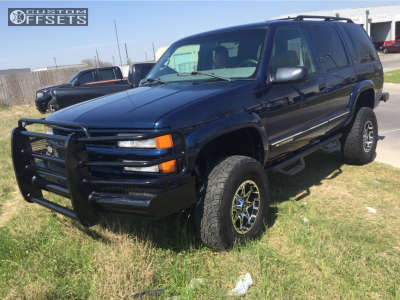 "2000 Chevrolet Tahoe - 16x8 -6mm - American Outlaw Buckshot - Suspension Lift 4.5"" - 265/75R16"