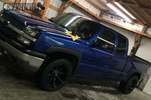 """2003 Chevrolet Silverado 1500 - 20x10 -12mm - Fuel Coupler - Level 2"""" Drop Rear - 285/50R20"""