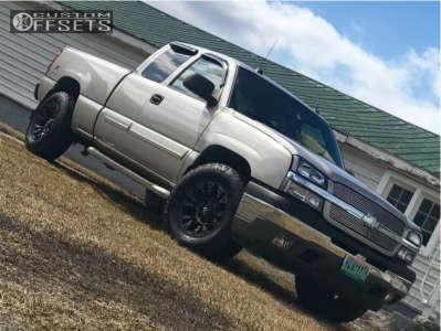 """2005 Chevrolet Silverado 1500 - 17x9 -12mm - Fuel Vapor - Suspension Lift 2.5"""" - 285/70R17"""