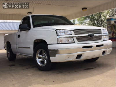 """2004 Chevrolet Silverado 1500 - 16x8 -6mm - American Racing Ventura - Level 2"""" Drop Rear - 245/65R16"""