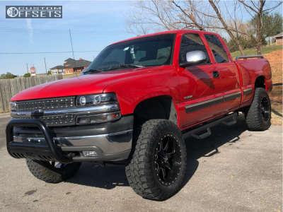 """1999 Chevrolet Silverado 1500 - 20x10 -24mm - Xtreme Mudder Xm-302 - Suspension Lift 6"""" - 35"""" x 12.5"""""""